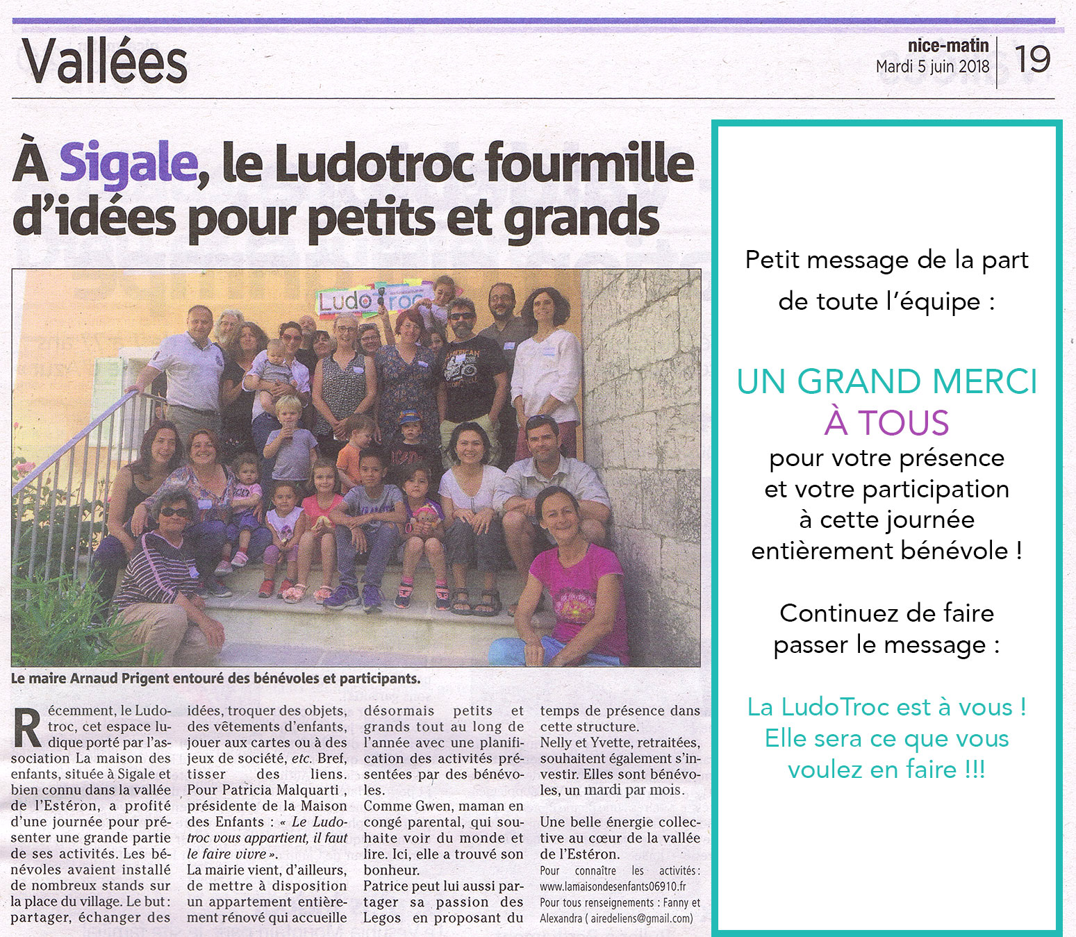 article inauguration ludotroc